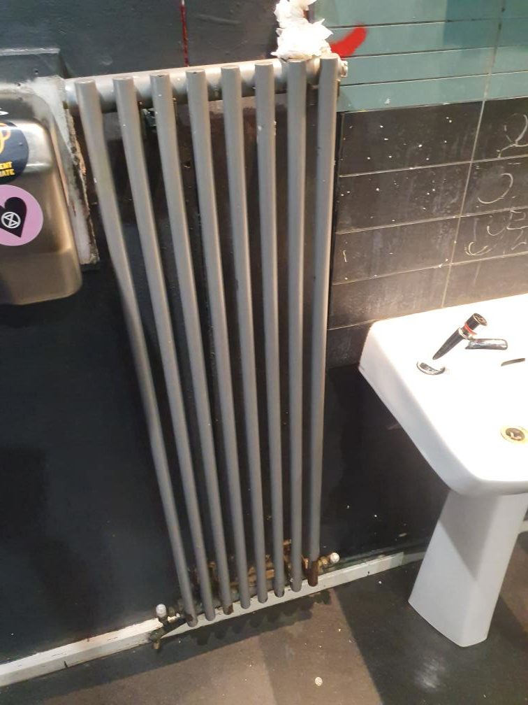 pipes and sink